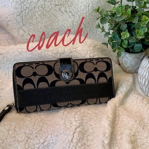 Coach Black Signature Wallet